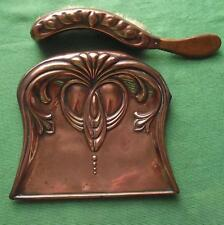 Superb c1900 Art Nouveau Arts & Crafts Copper Crumb Tray & Brush by Beldray
