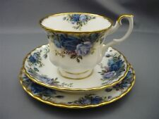 Vintage Royal Albert England Bone China TRIO Moonlight Rose Tea Cup Saucer Plate
