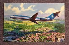 Vintage Purdue University Airlines Douglas DC-9 Fanjet Postcard MINT