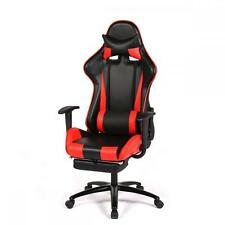 High-back Gaming Racing Chair - Ergonomic Design, 180 Degrees Recline - Red