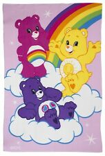 OFFICIAL NEW CHILDRENS PINK CARE BEAR FLEECE BLANKET CARE BEARS