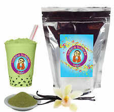 Vanilla Green Tea Latte Boba/ Bubble Tea Powder by Buddha Bubbles Boba (1 Pound)