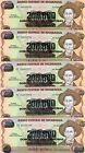 LOT Nicaragua, 5 x 200,000 on 1000 Cordobas, ND (1990), P-162, UNC