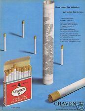 """Publicité Advertising 066 1962 Craven """"A"""" cigarettes anglaises"""
