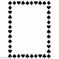 "Darice Embossing Folder 4 1/4""x5 3/4""- SUIT OF CARDS BORDER - 1218-112 REDUCED"