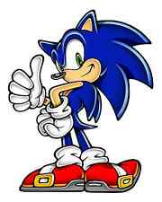 """Sonic the Hedgehog Iron On Transfer 5"""" x 6.25"""" for LIGHT Colored Fabric"""