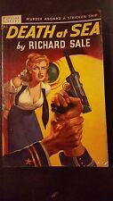 "Richard Sale, ""Death at Sea,"" 1948, Popular Library 163, VG, 1st"