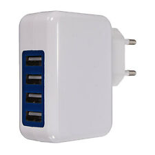 4 Port HUB USB Power Adapter EU Stecker Home Wand Ladegerät f. iPhone iPad Handy