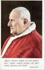 539 Papa Giovanni XXIII  Santino holycard