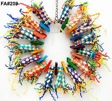 Fire Ring Shreddable Pet Bird Parrot Toy Cage Toys Amazon Conure Cockatoo