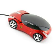 New 800DPI Optical Red Car Shape USB 2.0 3D Optical Mouse Mice For PC Laptop BG