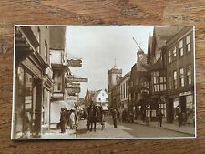 High Street Salisbury Wiltshire Postcard B/W Real photo Judges Ltd Horse & Cart