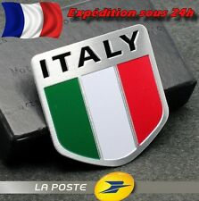 Sticker Autocollant Badge Drapeau ITALIE / Voiture Moto Scooter / 3D Aluminium