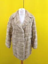 Womens Tissavel Vintage Faux Fur Coat - Uk14 - Beige - Great Condition