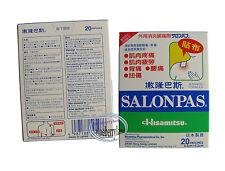 Salonpas Effective Aches Pain Relief Patch Plaster Neck Shoulders 20 Patches