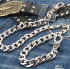 Strong Skull Spike Trucker Rocker Biker Keychain Key Jean Wallet Chain CS119