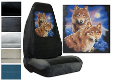 Velour Seat Covers Car Truck SUV Wolves High Back pp #Z