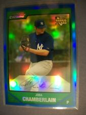 JOBA CHAMBERLAIN 2007 Bowman Chrome Draft Blue Refractor BDP18 Yankees #/199 RC