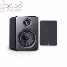 "ROTH AV OLi RA1 2-WAY 4"" STEREO BOOKSHELF SPEAKERS IN STYLISH SATIN BLACK FINISH"