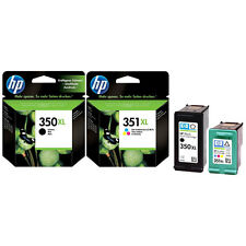 GENUINE ORIGINAL HP 351XL COLOUR + 350XL BLACK CARTRIDGES 1ST CLASS FAST POSTAGE