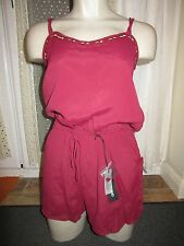 River Island Playsuit Size 8 BNWT Dark Red Bead Detail Dress Up All In One XMAS