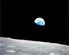 Earthrise Apollo 8 NASA Inspirational lunar print picture earth moon &FREE PHOT0