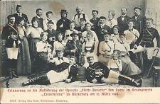 Rare Postcard, Opereta, Flotte Bursche, March 1904, Full Company Pose