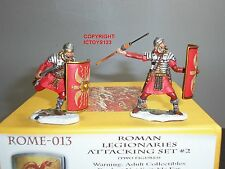 CONTE ROME013 ROME AT WAR ROMAN LEGIONAIRES ATTACKING TOY SOLDIER FIGURE SET 2