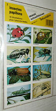 VOLUMETRIX N°7 1987 16 IMAGES AUTO-COLLANTES ECOLE CHROMOS INSECTES PAPILLONS