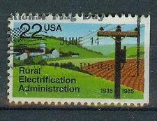 Briefmarken USA 1985 Elektrifizierung au dem Land Mi.Nr.1752