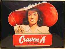 Craven A Cigarettes Embossed Large Embossed Steel Sign   400mm x 300mm (hi)