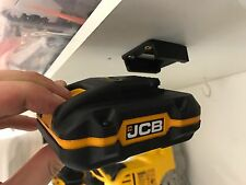 5x Black JCB 20v BATTERY Mount Holder for Shelf Rack Stand Holder Slots Drill