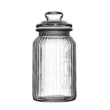 1300ml Ribbed Glass Storage Jar Large Kitchen Sweet Candy Wedding Food Container