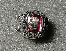 U.S. Marine Corps Men's Ring by Jostens with Stone, Size 10