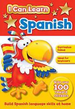 Apprendre l'espagnol activité livre d'autocollants idéal pour débutants neuf