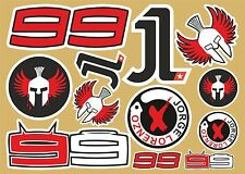 Jorge Lorenzo assorted decal sheet  of 24 quality printed stickers