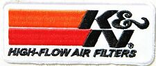 K&N Logo Cleaning Air Filter Racing Patch Sew Iron on Jacket T-shirt Cap Sign #1