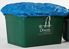 2 x  Recycle Box Covers -BLUE  Tie-on Weatherproof QUALITY COVERS***UK SELLER**