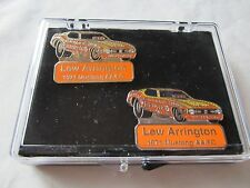 "NHRA Legend Lew Arrington ""BRUTUS"" 1971 Mustang Funny Car Drag Racing Pin Set"