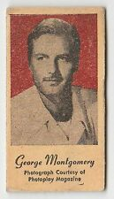 American US Engrav-O-Tints Weighing Weight Machine Card Actor George Montgomery