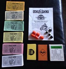 Harley Davidson 2000 Monopoly Live to Ride Edition Game Replacement Pieces Parts