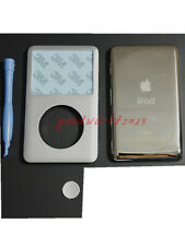 Silver front cover back housing case+button for ipod 7th classic 160gb(thin)