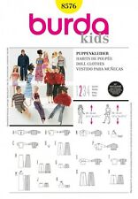 Free UK P&P - Burda Craft Easy Sewing Pattern 8576 Barbie Style Doll Clot...