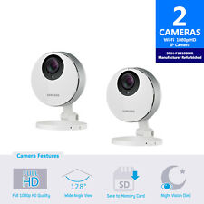 SNH-P6410BMR - 2-Pack Samsung Smartcam Full HD Wifi 1080p IP Camera Refurbished
