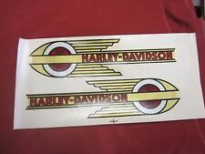 HARLEY-DAVIDSON LEFT AND RIGHT GAS TANK DECALS FOR KNUCKLEHEADS