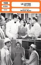 FICHE CINEMA : LA LETTRE - Davis,Marshall,Wyler 1940 The Letter