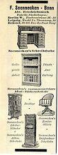 F. Soennecken Bonn Scheibtische Kontor Stühle Bücherschränke Historische Reklame