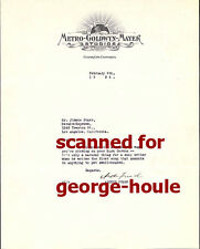 ARTHUR FREED - TYPED LETTER - 1934 - GIGI - AMERICAN IN PARIS - WIZARD OF OZ -AA