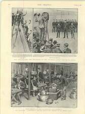 1899 War Preparations General Hospital Company Last Meal Before Sailing