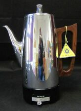 Vintage Retro 1970s Electric Sona Aluminium Coffee Maker Percolator Working